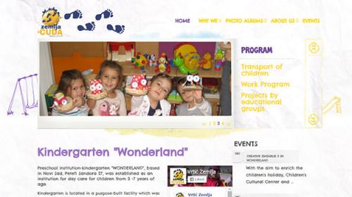 """Kindergarten """"WONDERLAND"""""""